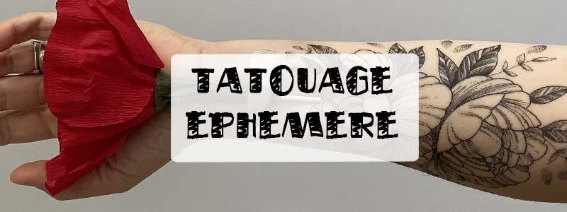 Tatouage éphémère: comment ça marche?